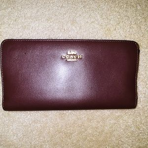 Coach slim brown wallet